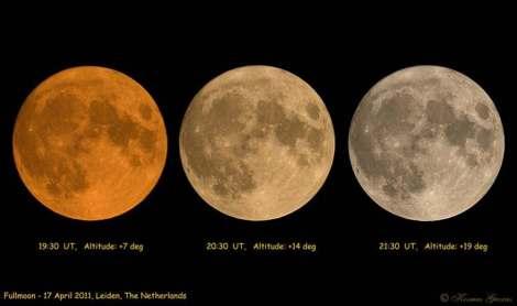 Perbedaan warna Bulan.